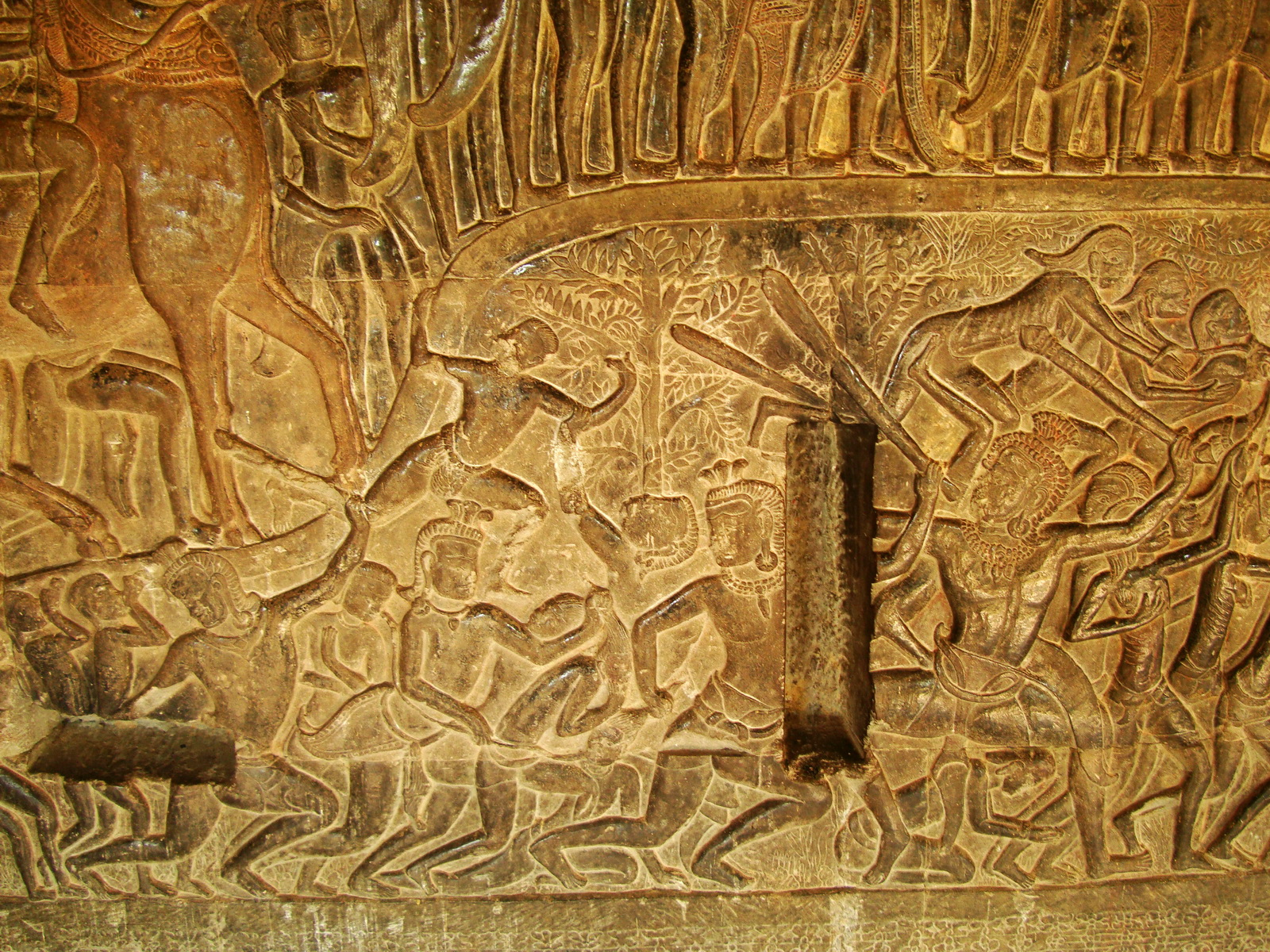 Angkor Wat Bas relief S Gallery E Wing Heavens and Hells 06