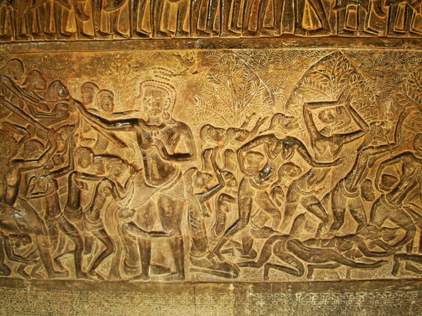 Angkor Wat Bas relief S Gallery E Wing Heavens and Hells 08