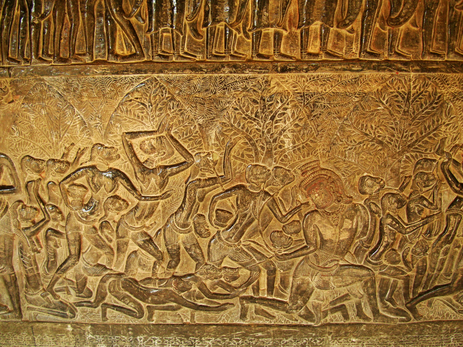 Angkor Wat Bas relief S Gallery E Wing Heavens and Hells 09