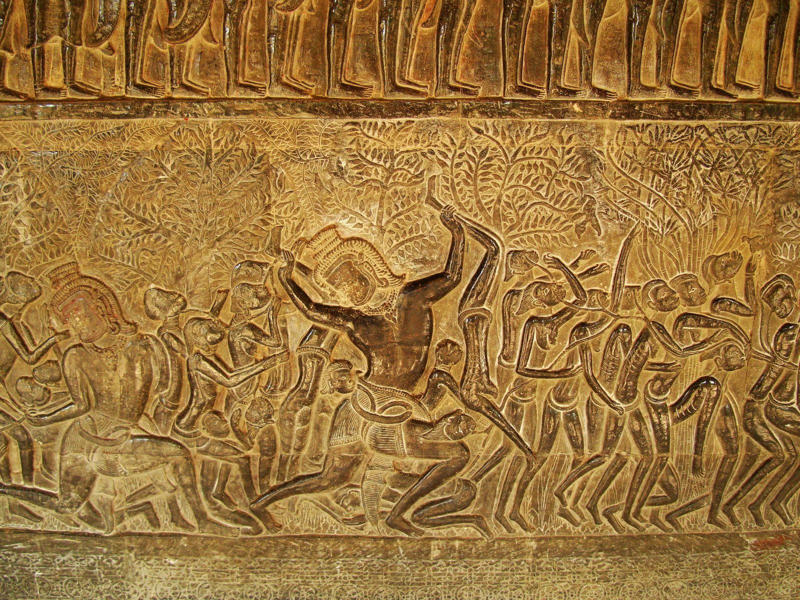 Angkor Wat Bas relief S Gallery E Wing Heavens and Hells 10