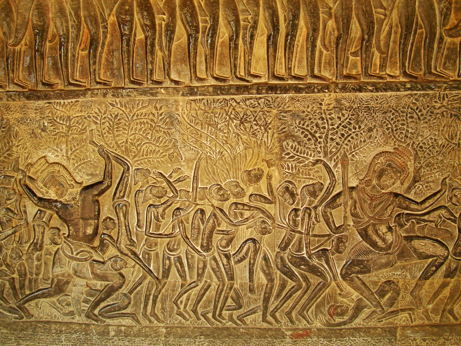 Angkor Wat Bas relief S Gallery E Wing Heavens and Hells 11