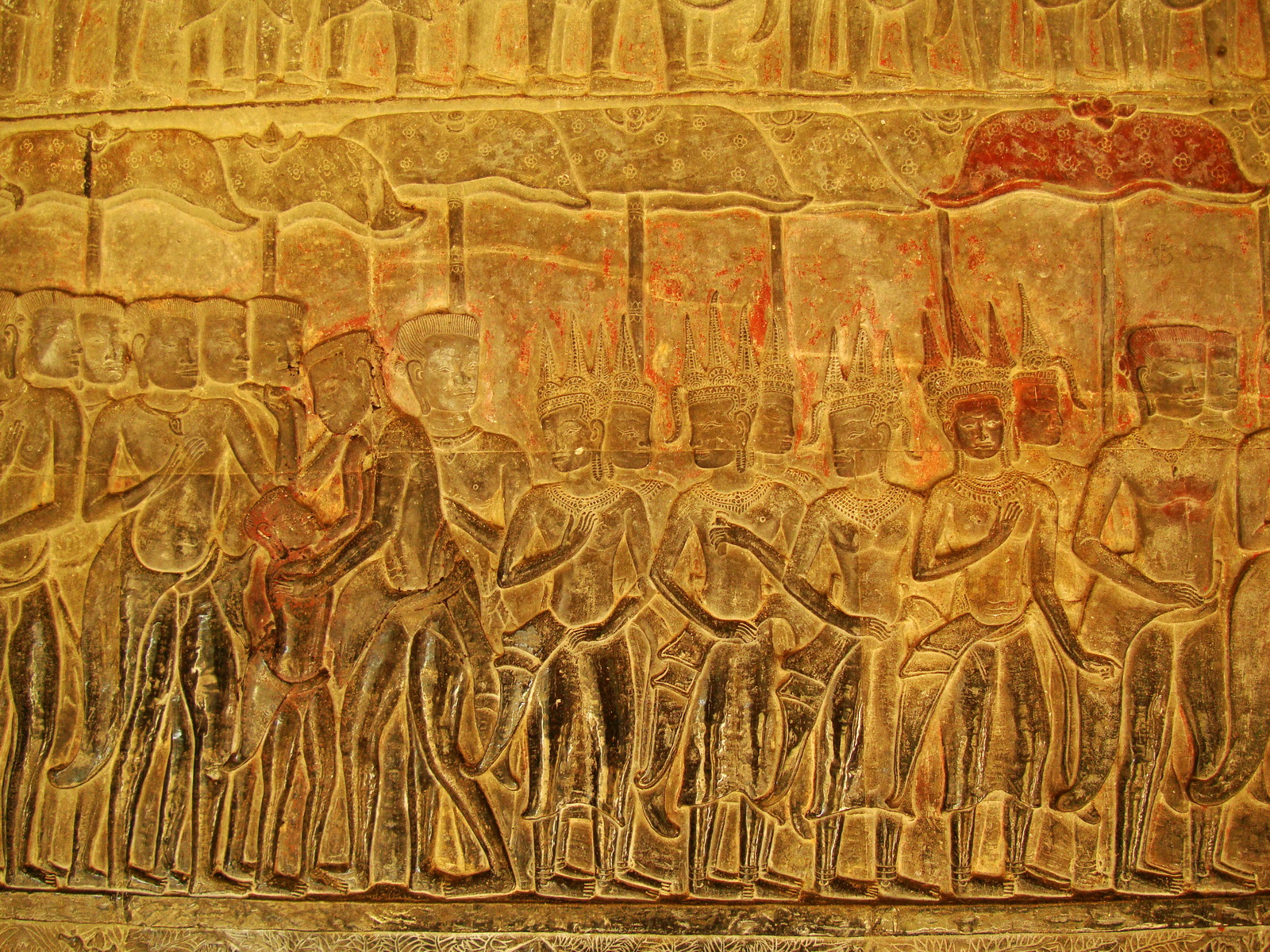 Angkor Wat Bas relief S Gallery E Wing Heavens and Hells 18