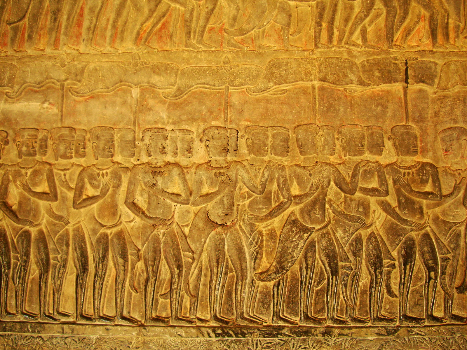 Angkor Wat Bas relief S Gallery E Wing Heavens and Hells 21