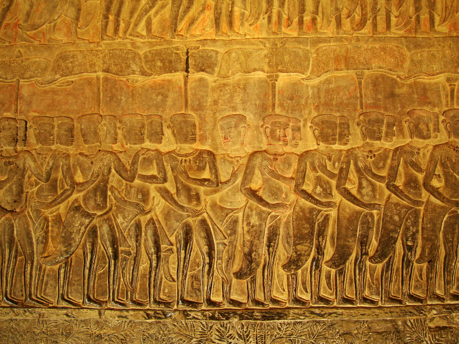 Angkor Wat Bas relief S Gallery E Wing Heavens and Hells 22