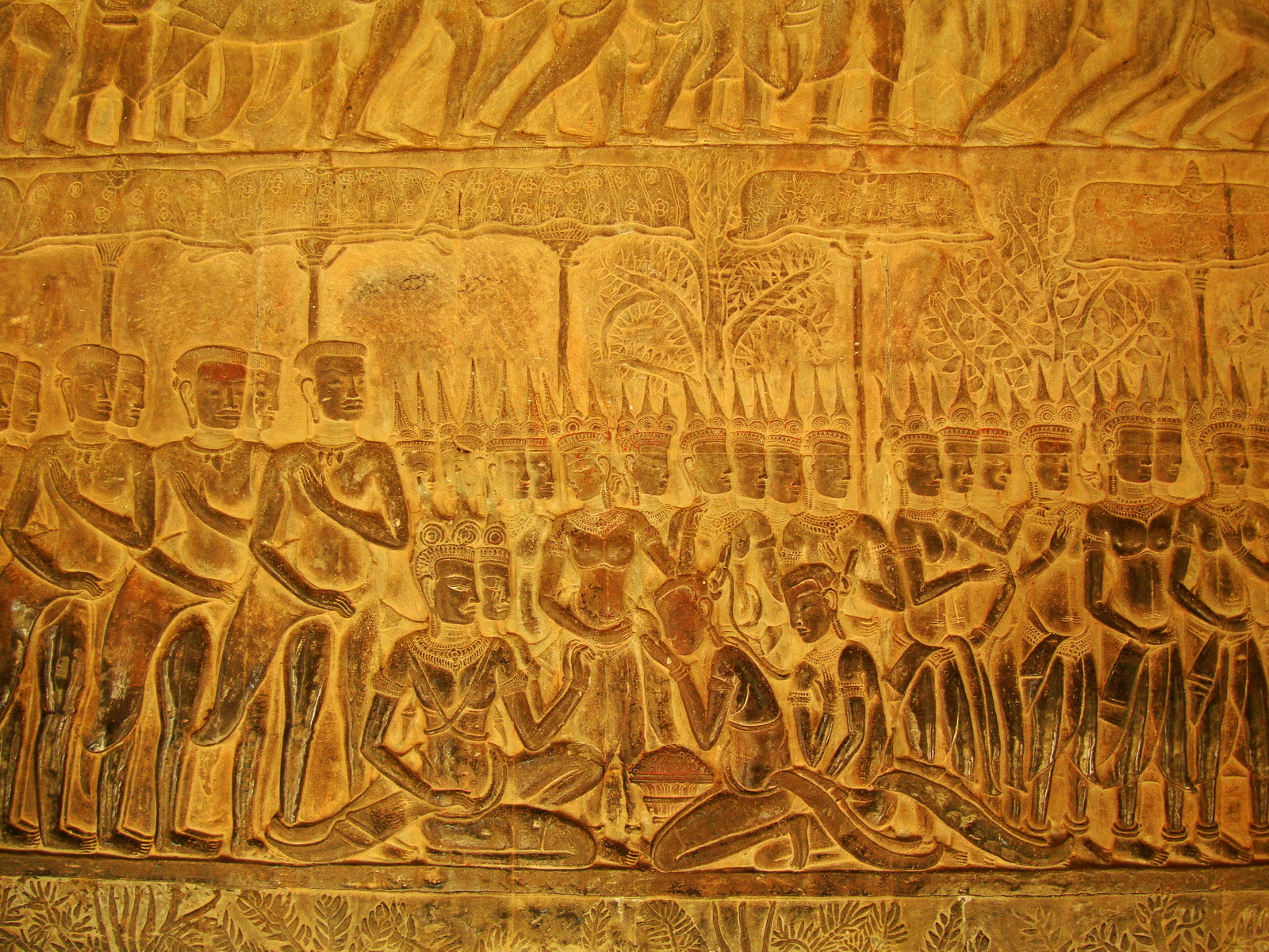 Angkor Wat Bas relief S Gallery E Wing Heavens and Hells 25