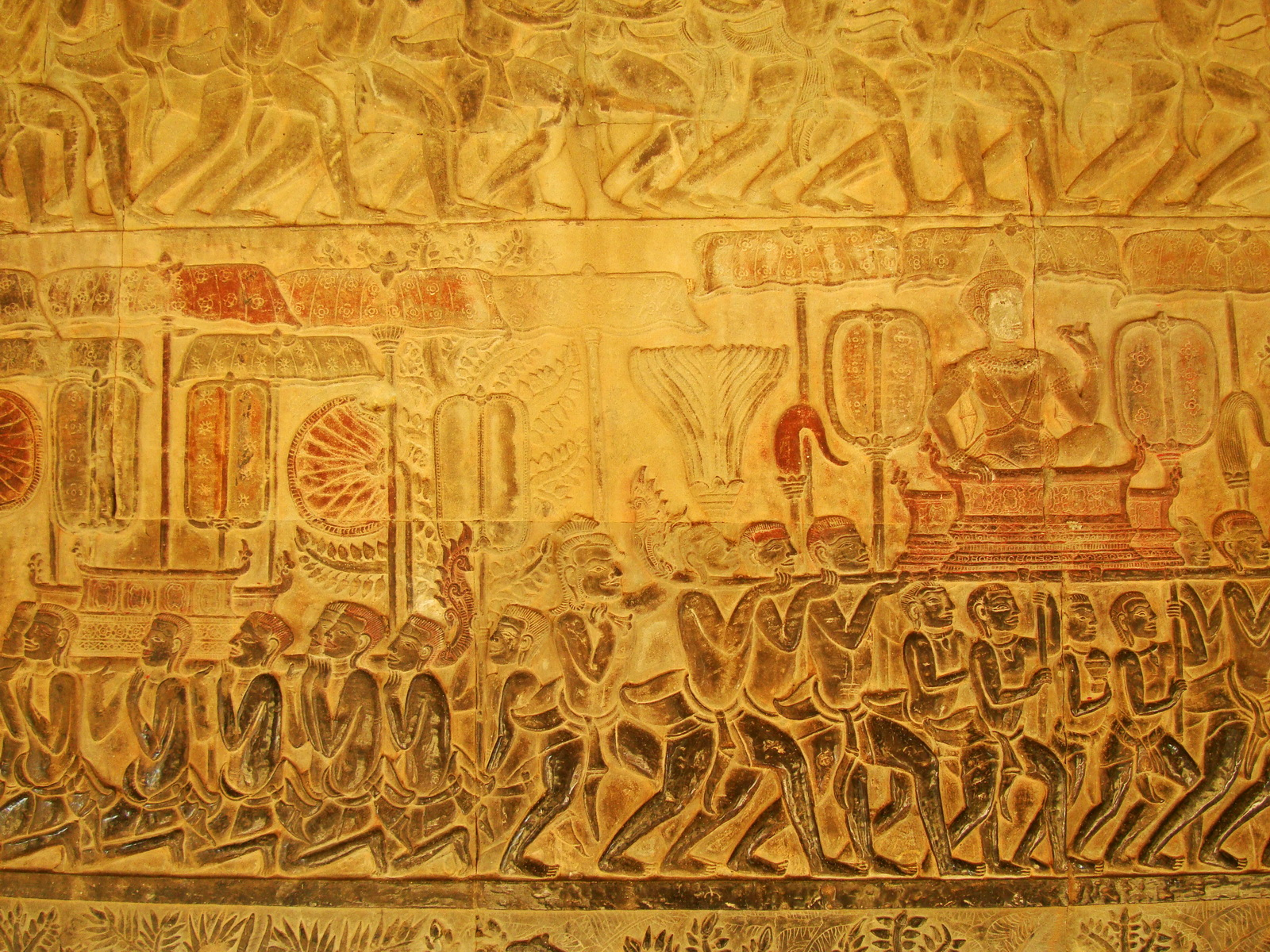 Angkor Wat Bas relief S Gallery E Wing Heavens and Hells 29
