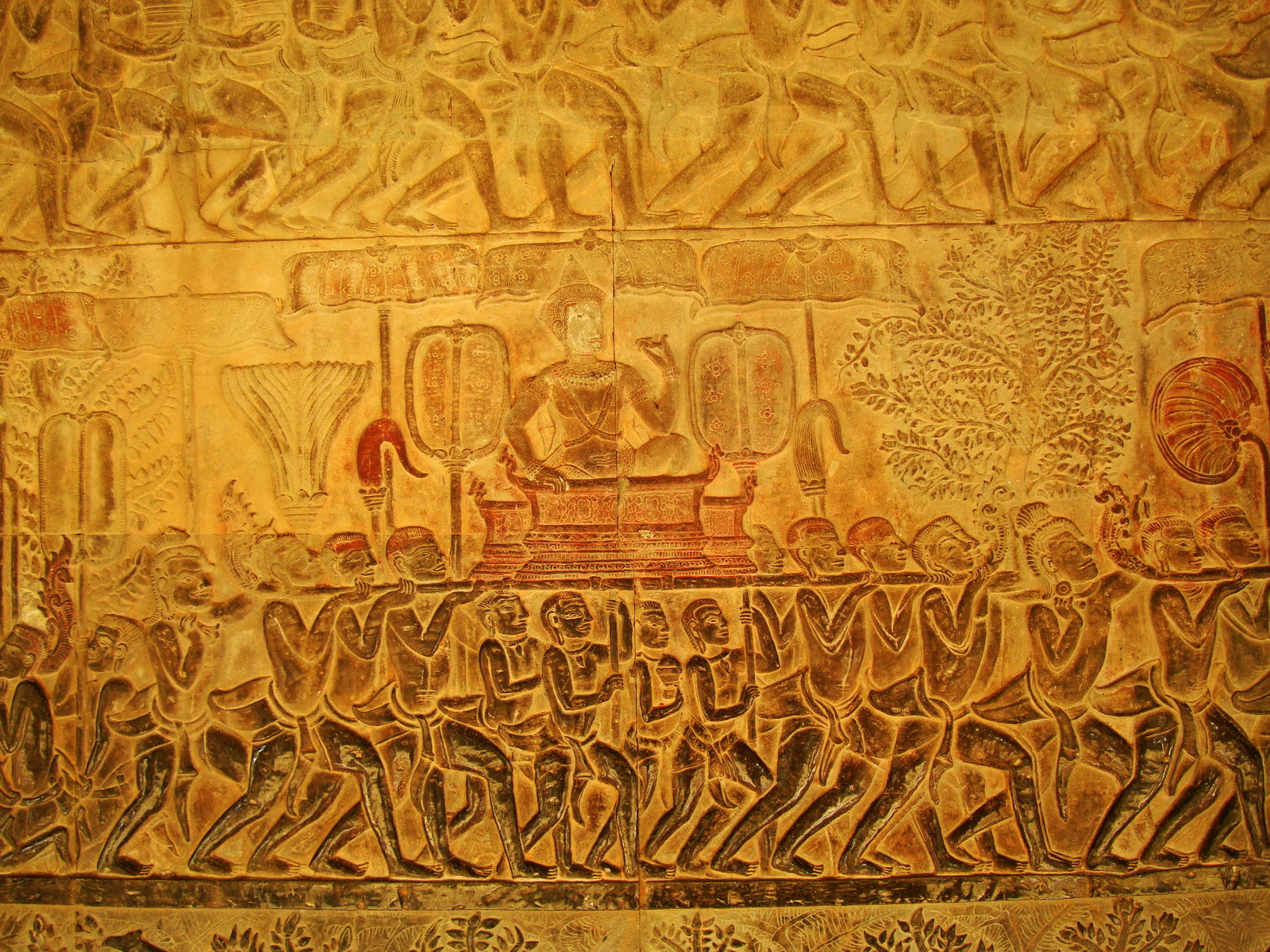 Angkor Wat Bas relief S Gallery E Wing Heavens and Hells 30