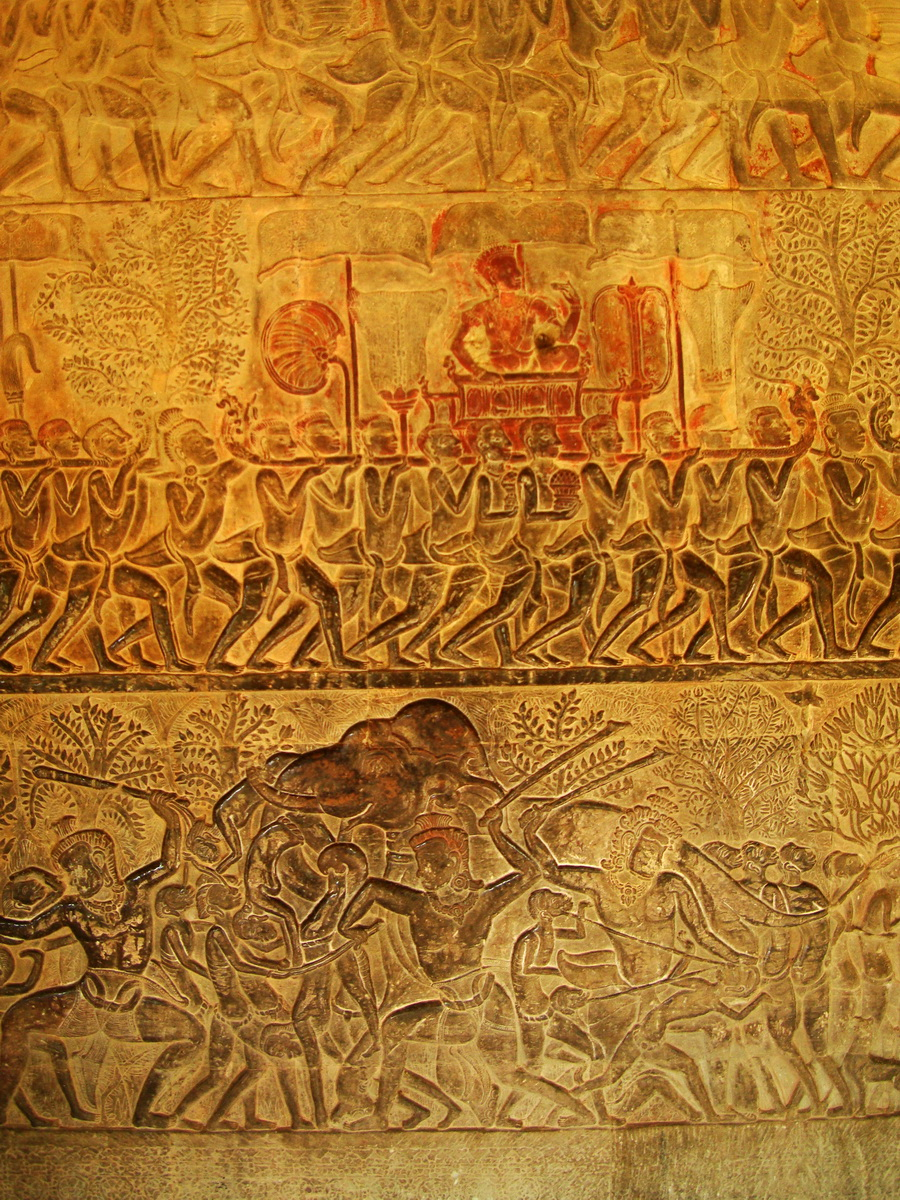 Angkor Wat Bas relief S Gallery E Wing Heavens and Hells 33