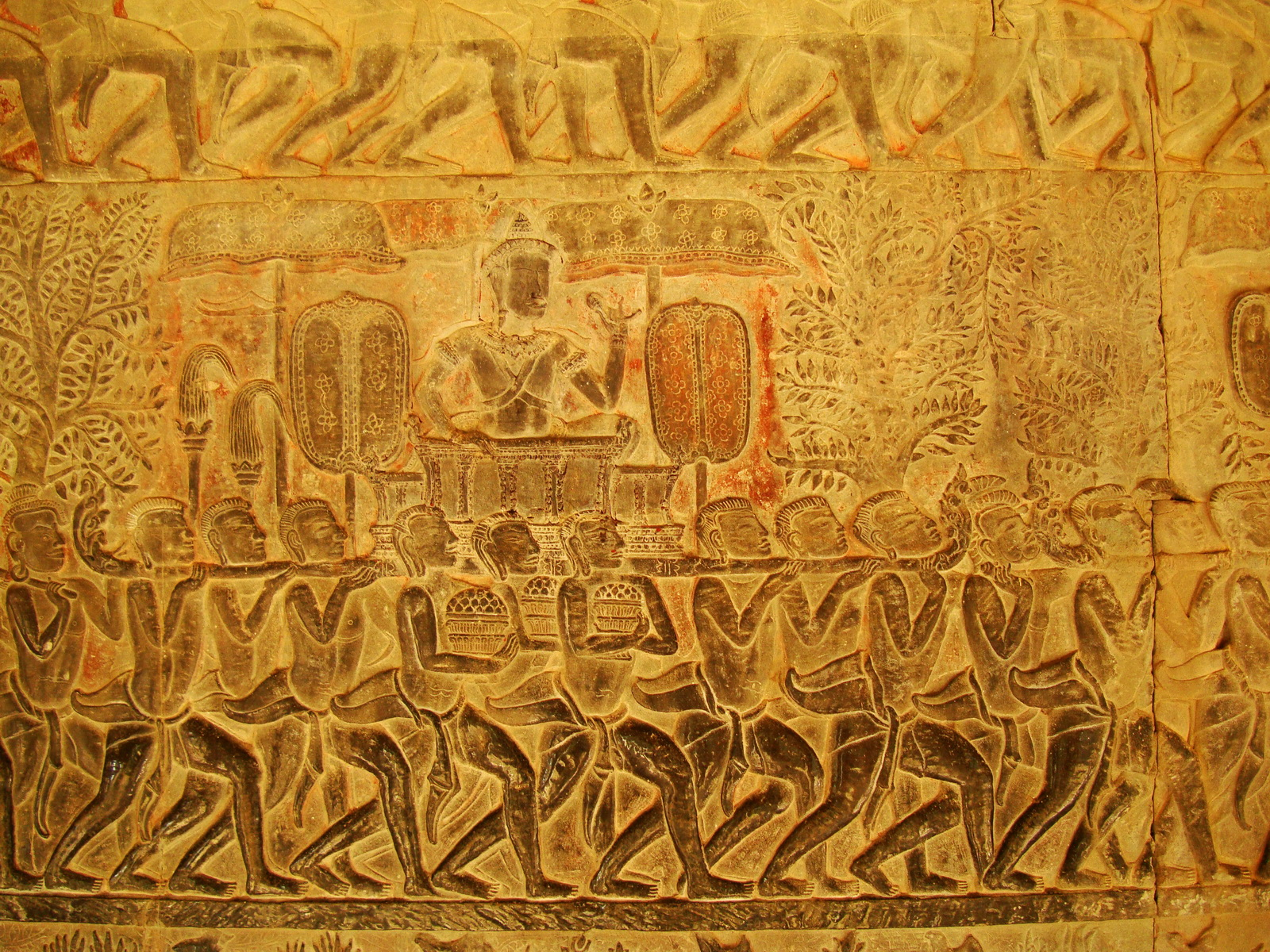Angkor Wat Bas relief S Gallery E Wing Heavens and Hells 34
