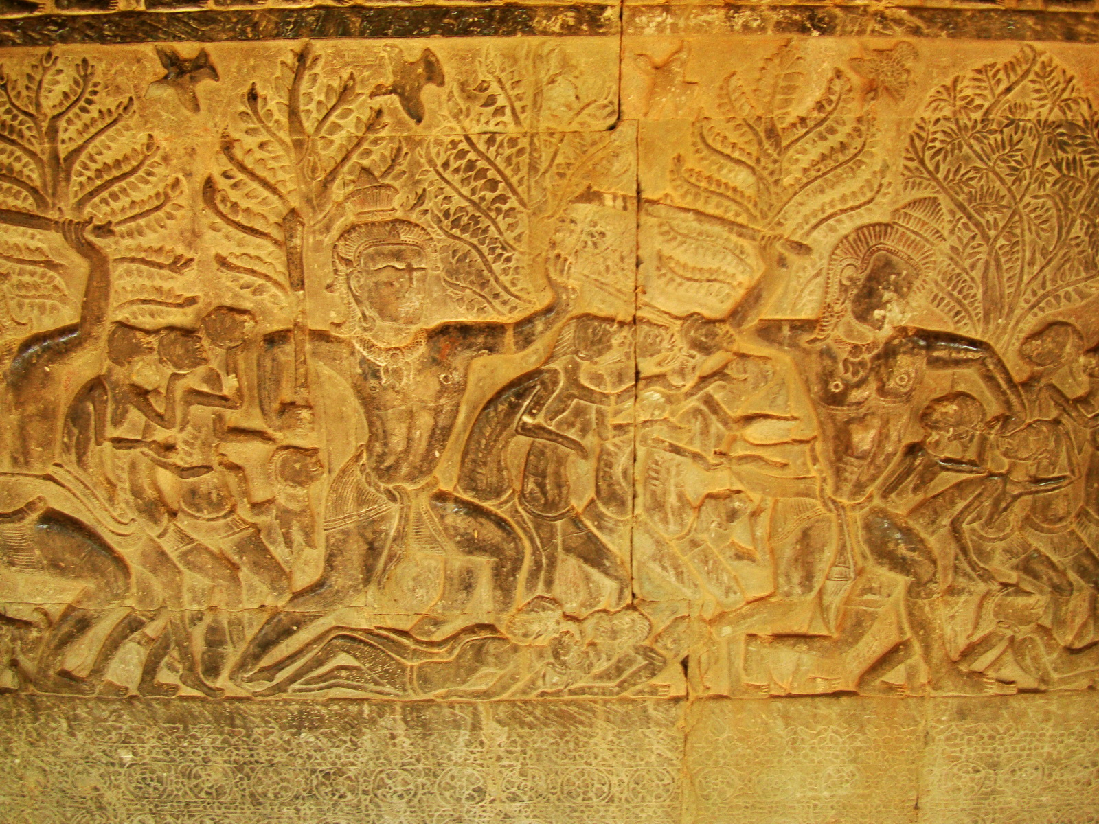 Angkor Wat Bas relief S Gallery E Wing Heavens and Hells 36