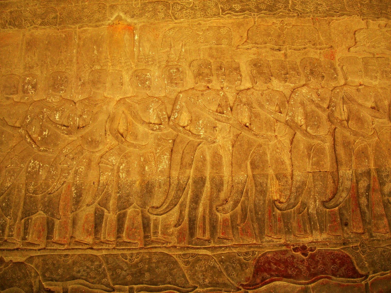 Angkor Wat Bas relief S Gallery E Wing Heavens and Hells 38