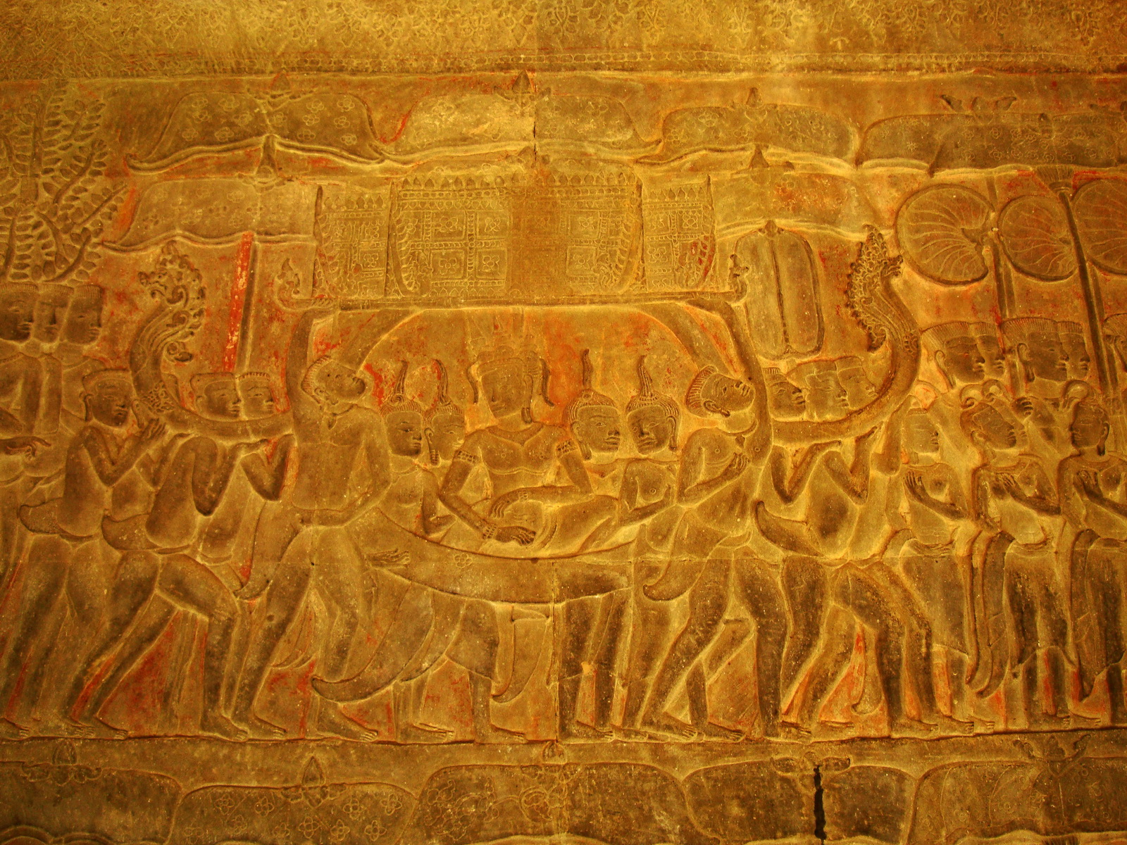 Angkor Wat Bas relief S Gallery E Wing Heavens and Hells 41