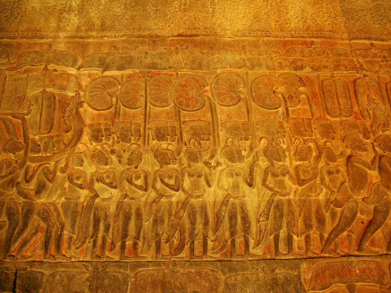 Angkor Wat Bas relief S Gallery E Wing Heavens and Hells 42