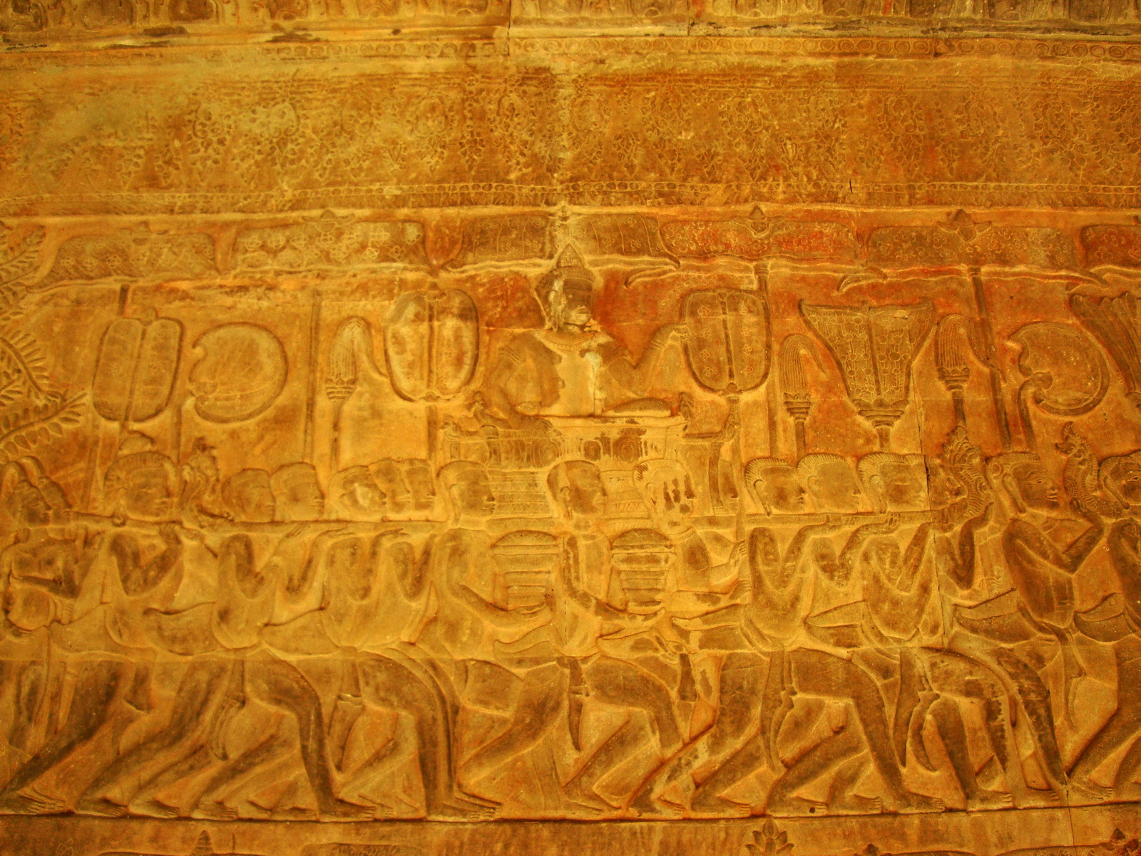 Angkor Wat Bas relief S Gallery E Wing Heavens and Hells 46