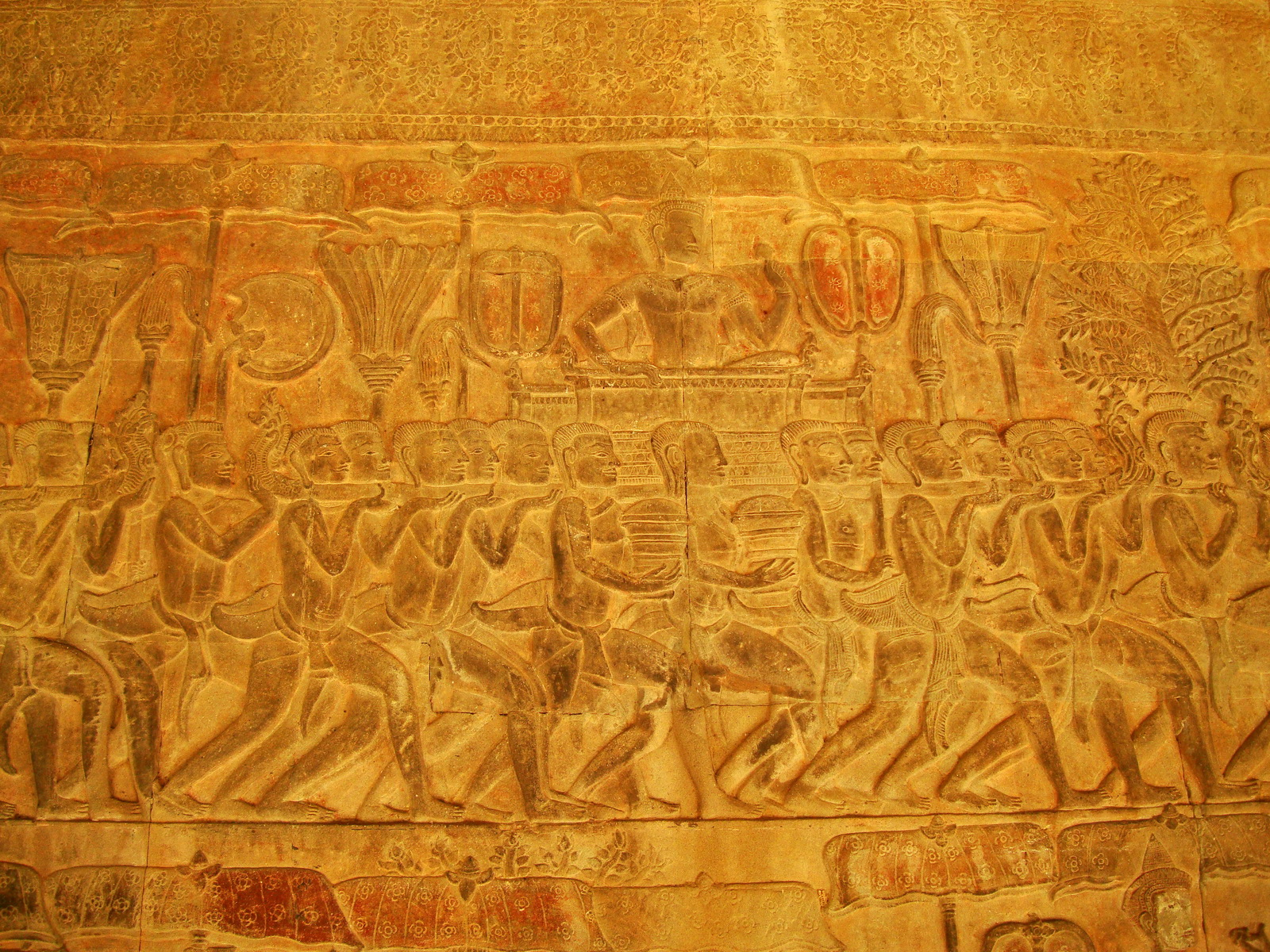 Angkor Wat Bas relief S Gallery E Wing Heavens and Hells 47