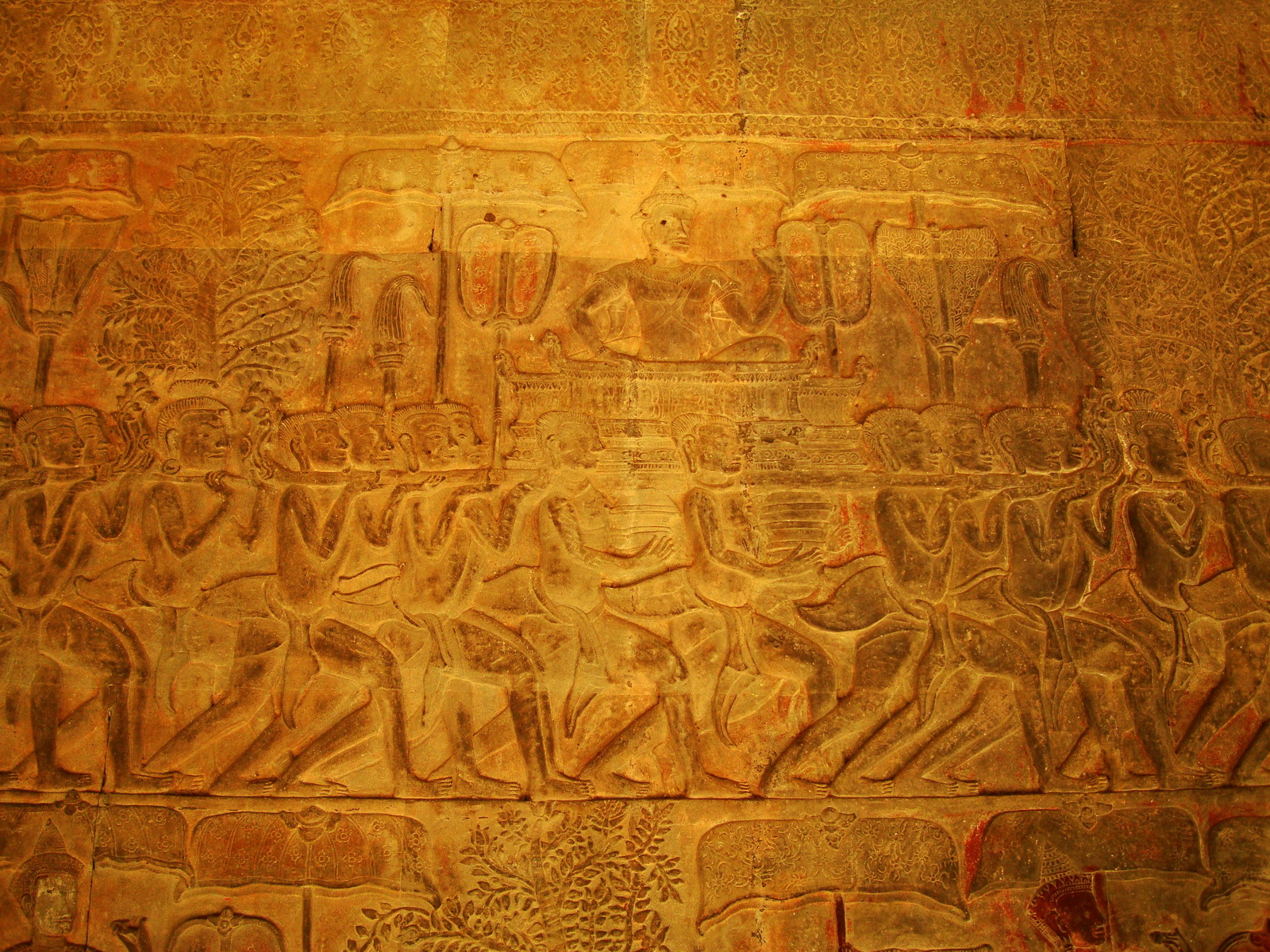 Angkor Wat Bas relief S Gallery E Wing Heavens and Hells 48