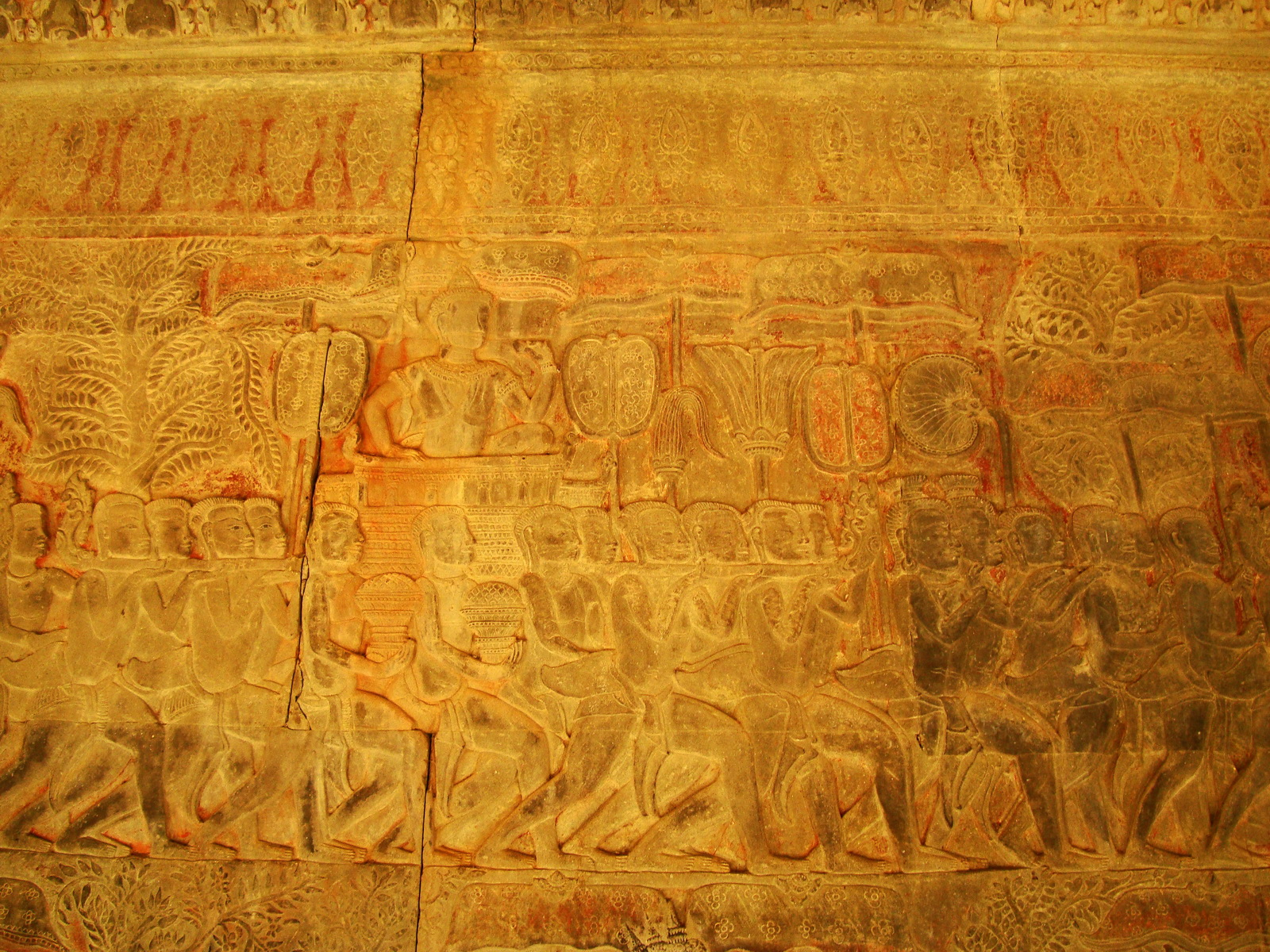 Angkor Wat Bas relief S Gallery E Wing Heavens and Hells 50