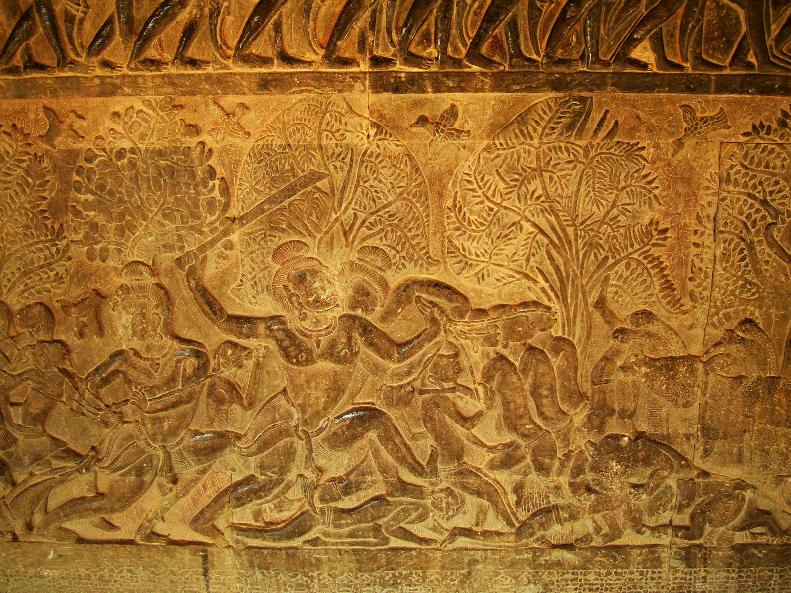Angkor Wat Bas relief S Gallery E Wing Heavens and Hells 52