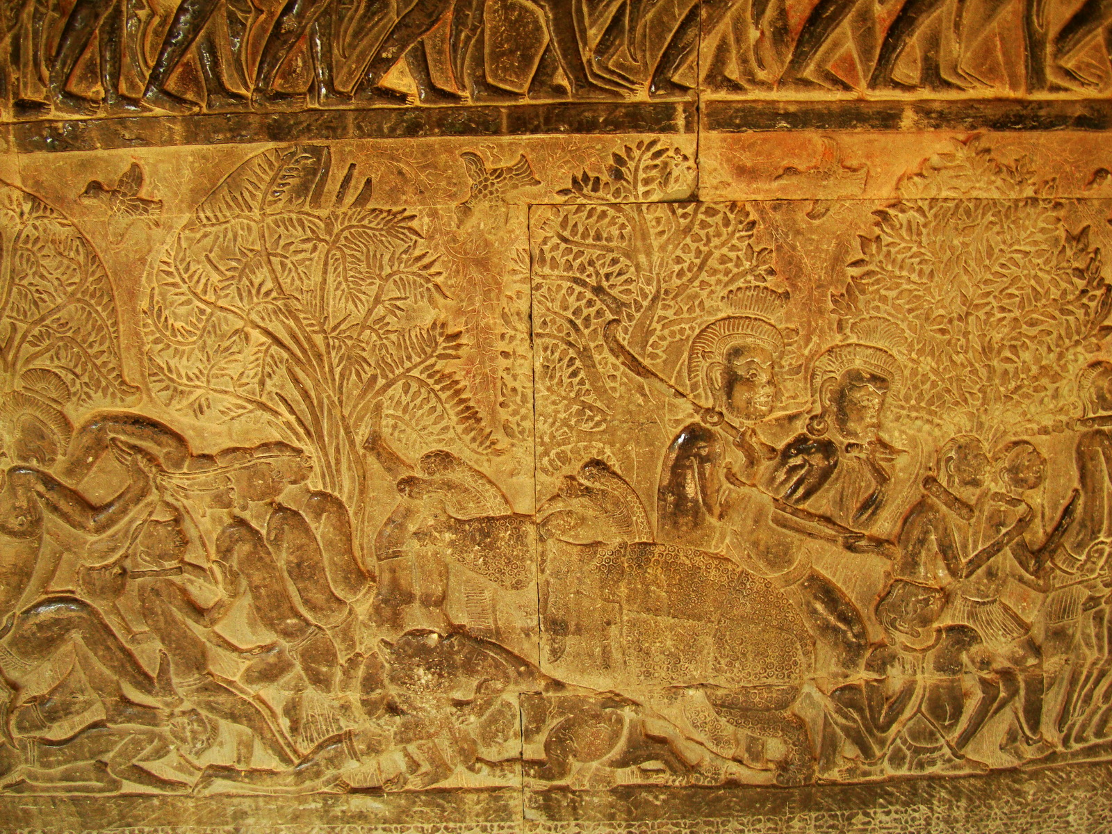 Angkor Wat Bas relief S Gallery E Wing Heavens and Hells 53