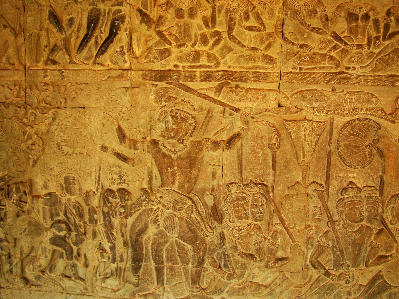 Angkor Wat Bas relief S Gallery E Wing Heavens and Hells 54