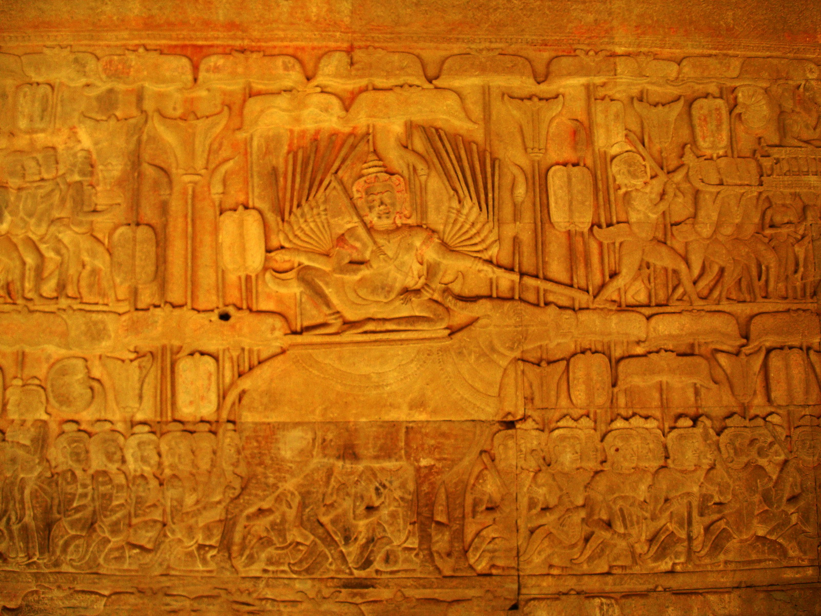 Angkor Wat Bas relief S Gallery E Wing Heavens and Hells 56