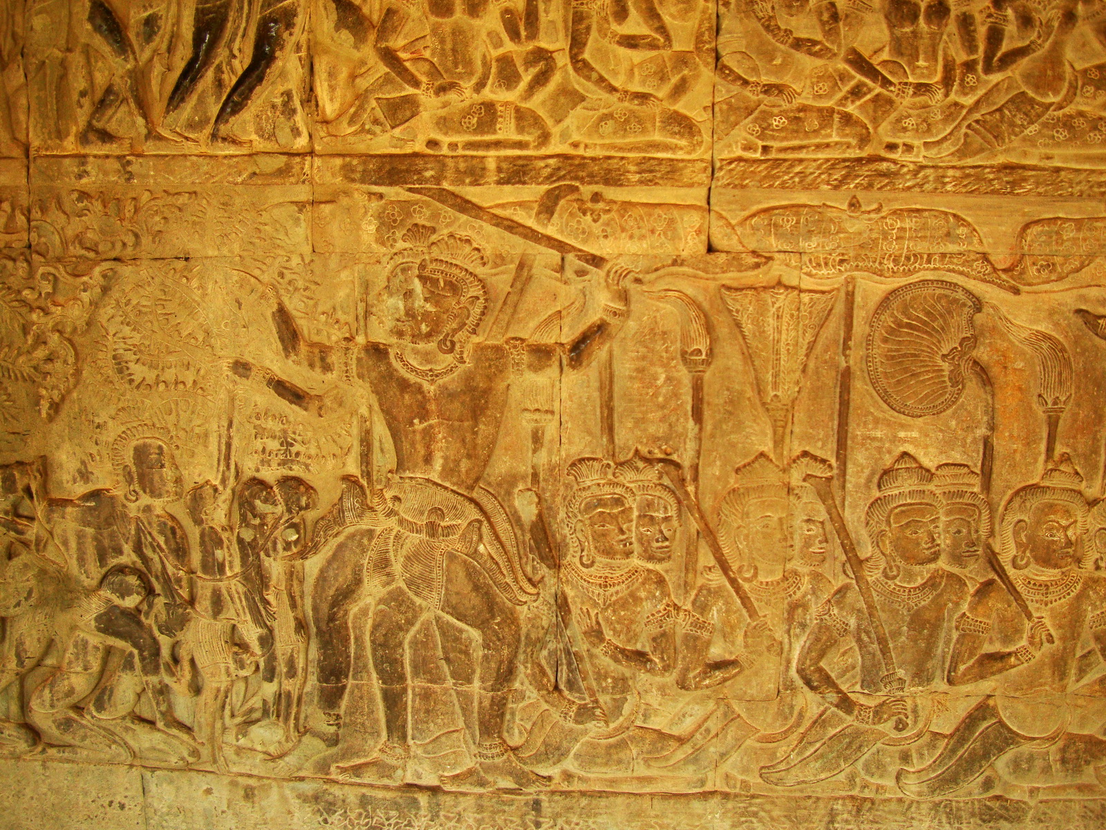 Angkor Wat Bas relief S Gallery E Wing Heavens and Hells 57