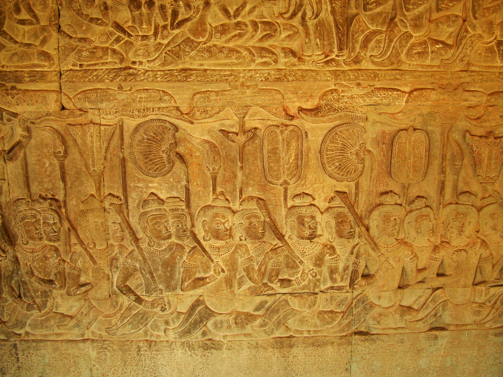 Angkor Wat Bas relief S Gallery E Wing Heavens and Hells 58