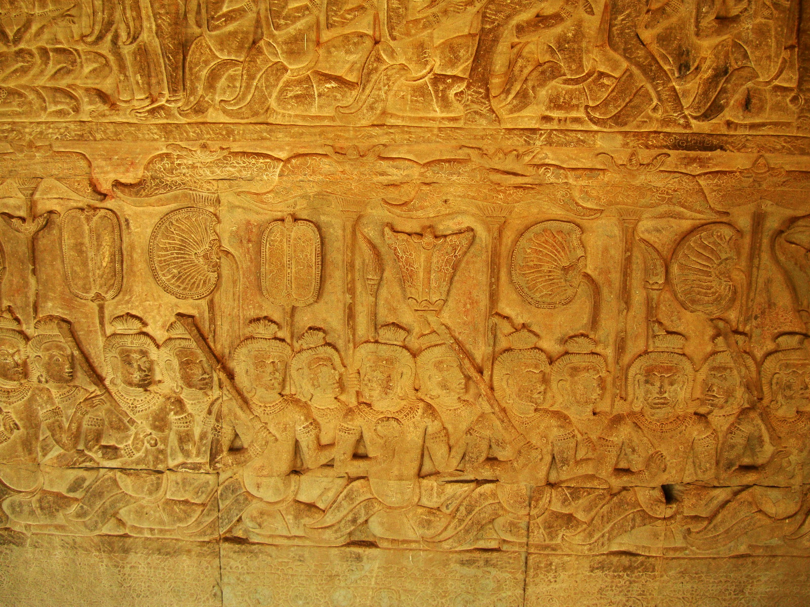 Angkor Wat Bas relief S Gallery E Wing Heavens and Hells 59