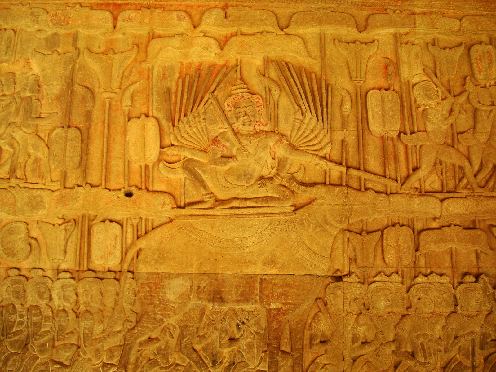 Angkor Wat Bas relief S Gallery E Wing Heavens and Hells 60