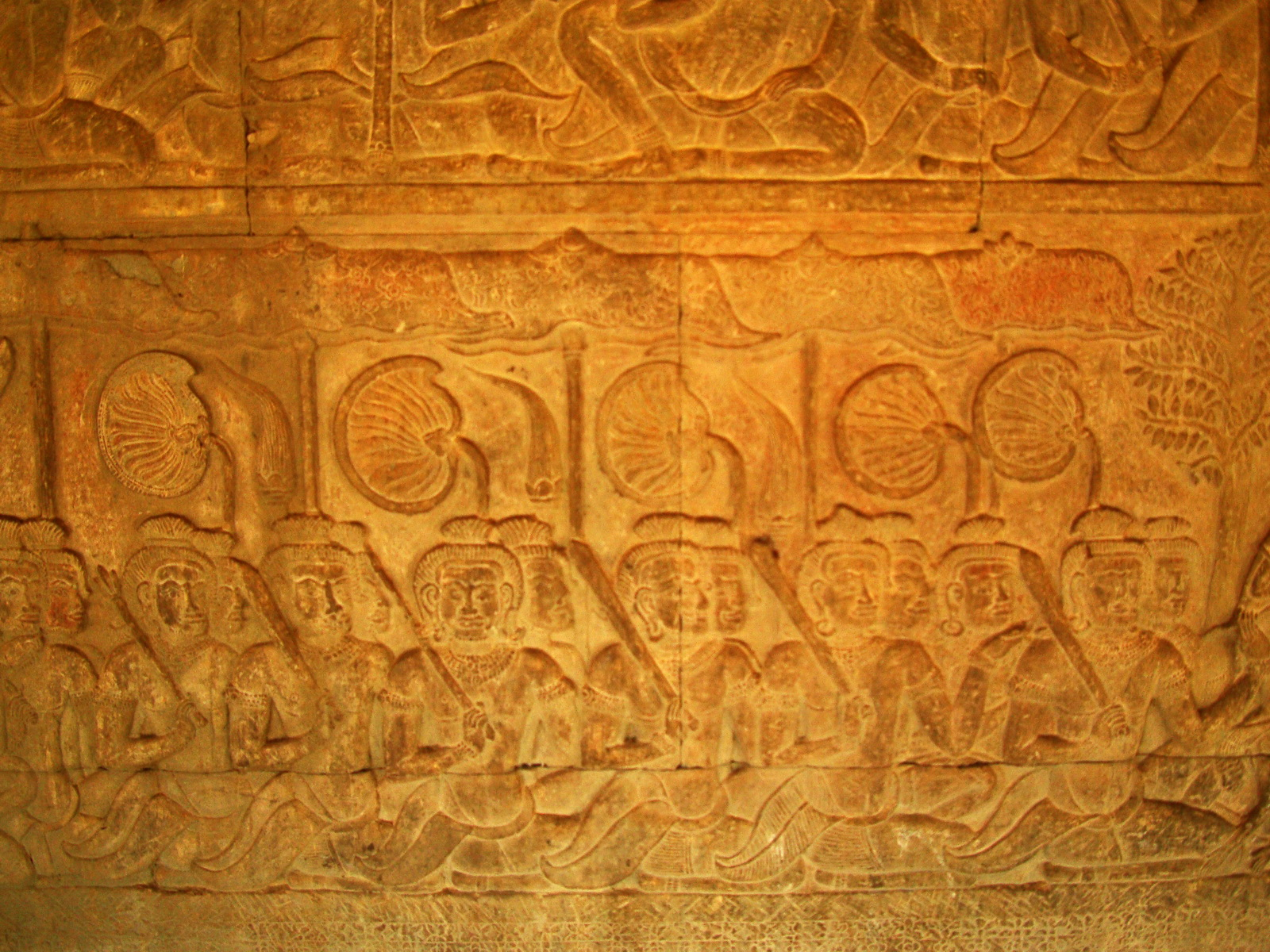 Angkor Wat Bas relief S Gallery E Wing Heavens and Hells 61
