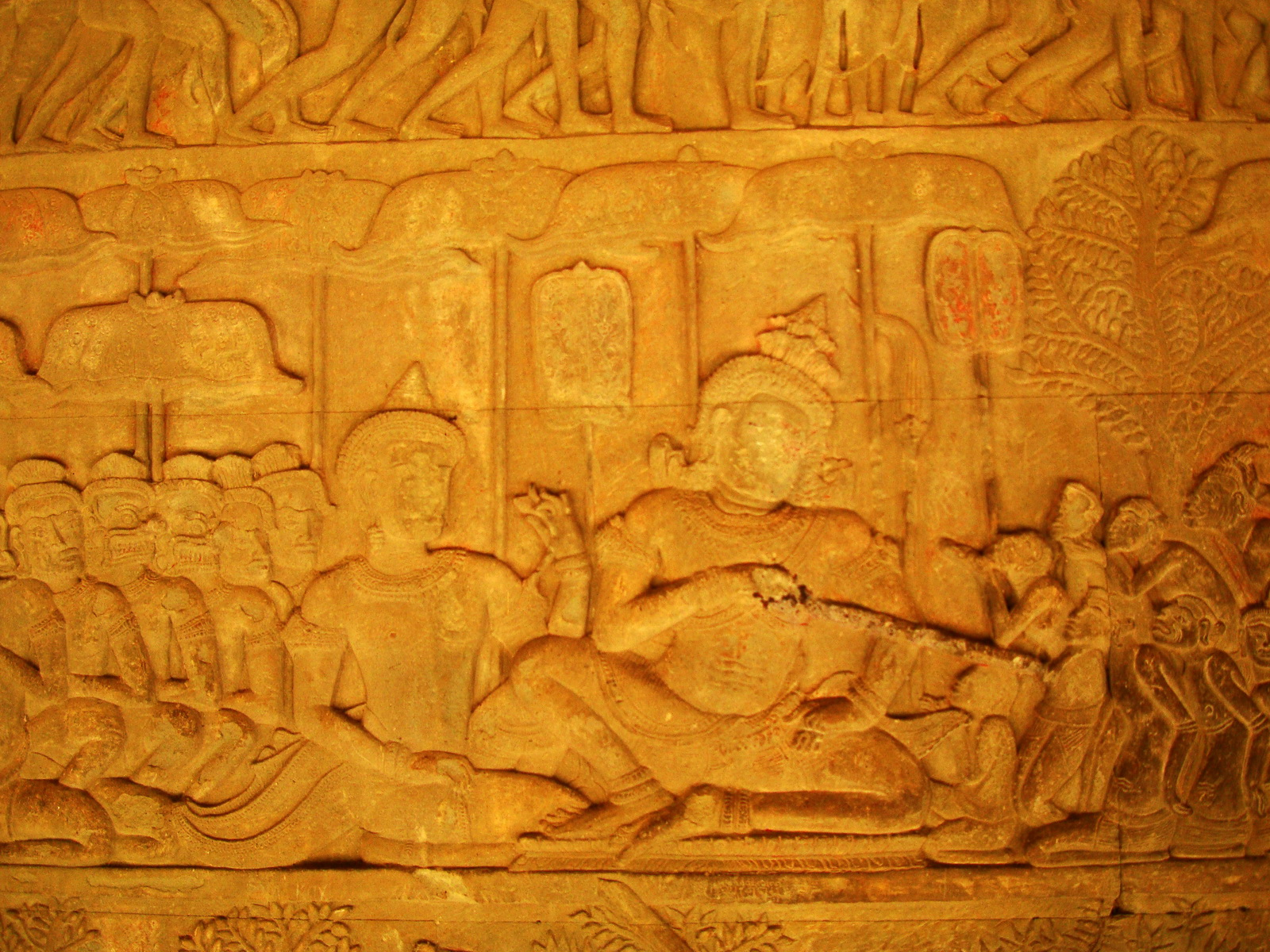 Angkor Wat Bas relief S Gallery E Wing Heavens and Hells 62