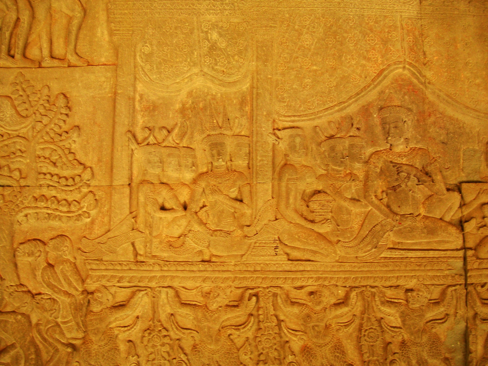 Angkor Wat Bas relief S Gallery E Wing Heavens and Hells 64