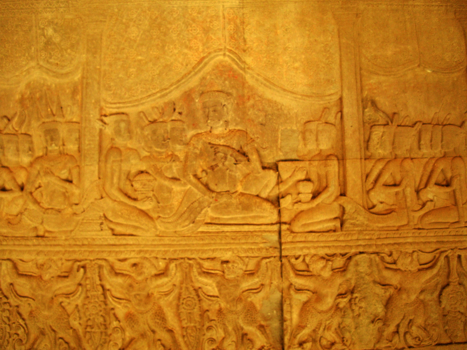 Angkor Wat Bas relief S Gallery E Wing Heavens and Hells 65