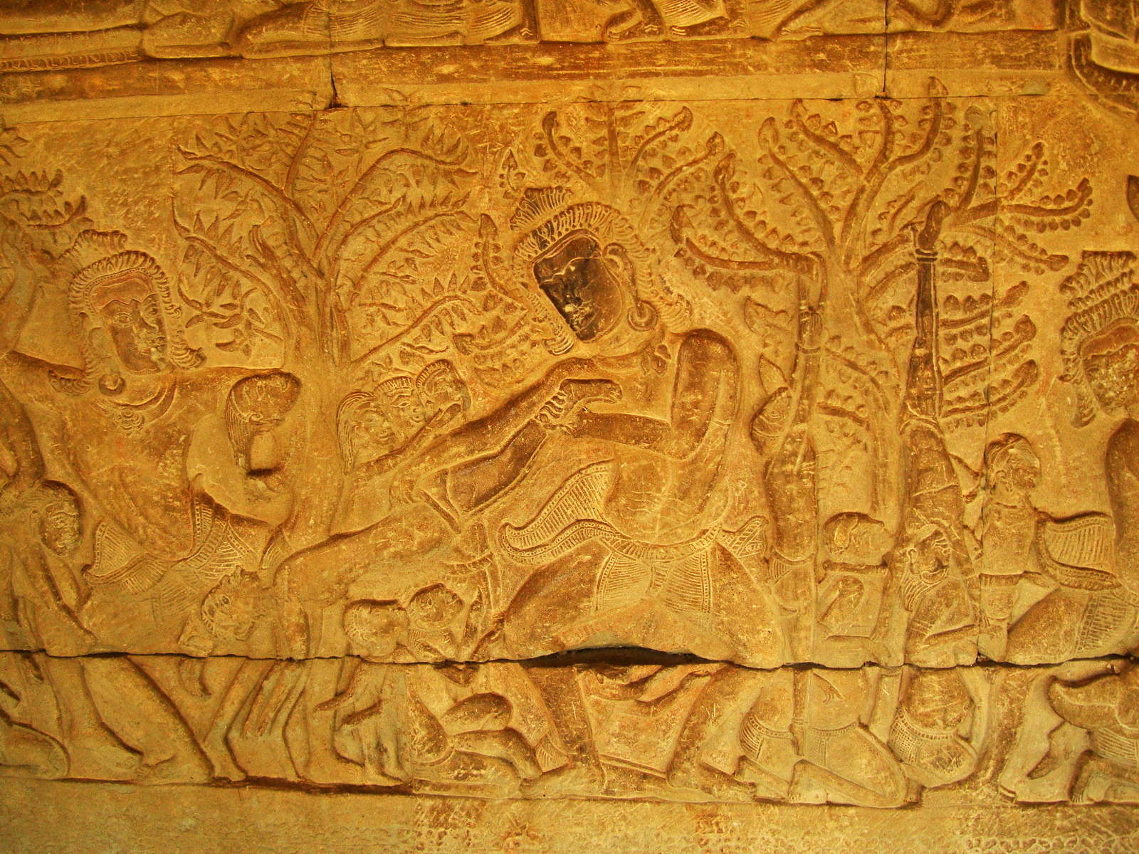 Angkor Wat Bas relief S Gallery E Wing Heavens and Hells 66