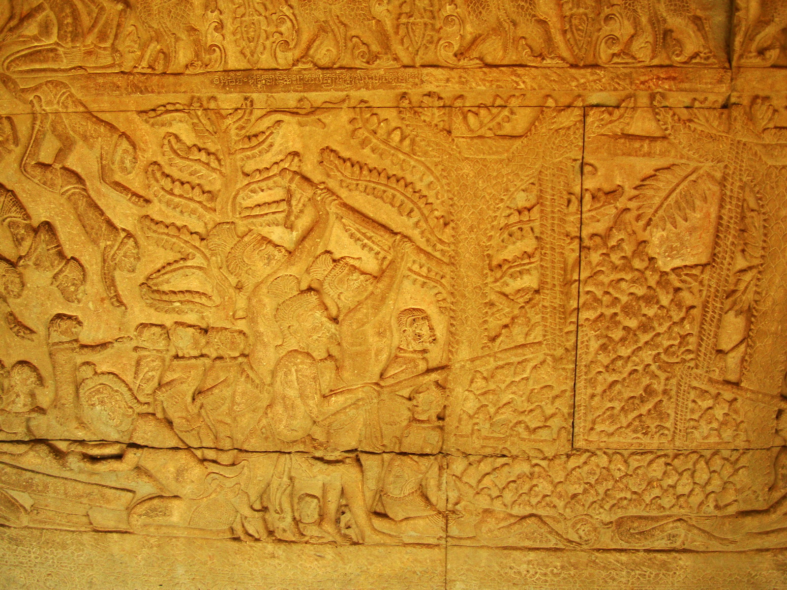 Angkor Wat Bas relief S Gallery E Wing Heavens and Hells 68