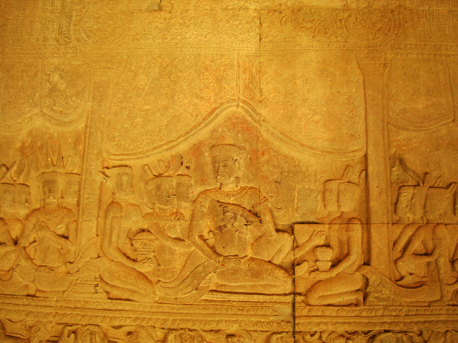 Angkor Wat Bas relief S Gallery E Wing Heavens and Hells 69