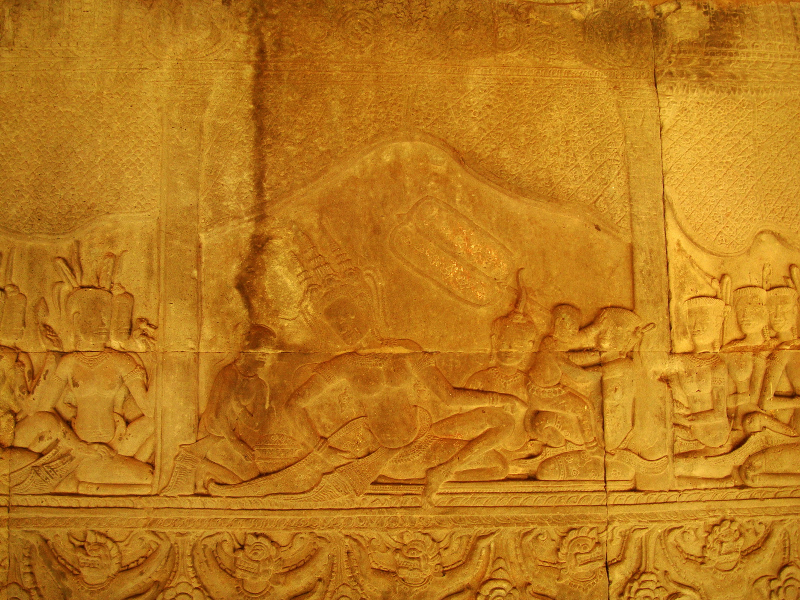Angkor Wat Bas relief S Gallery E Wing Heavens and Hells 70