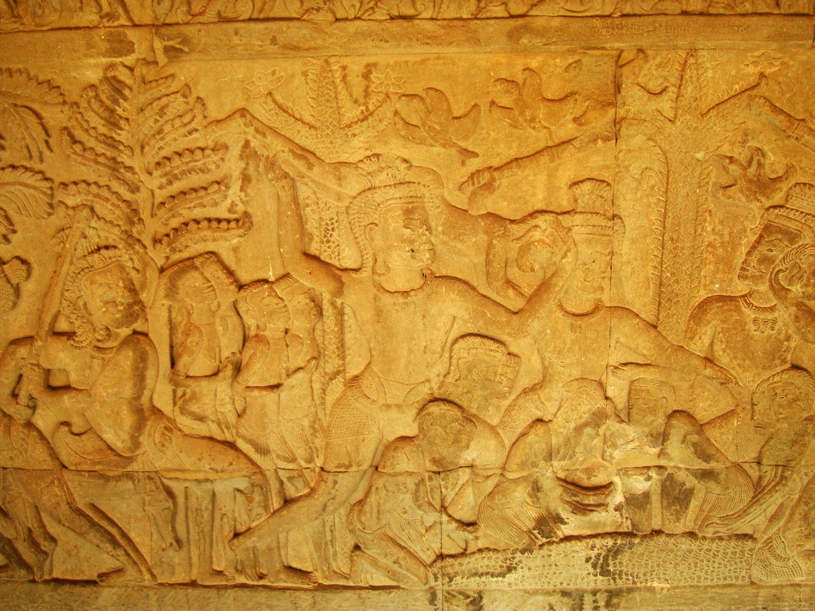 Angkor Wat Bas relief S Gallery E Wing Heavens and Hells 71