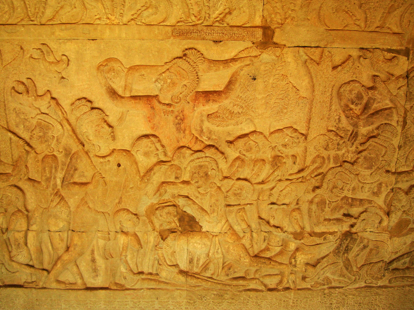 Angkor Wat Bas relief S Gallery E Wing Heavens and Hells 72