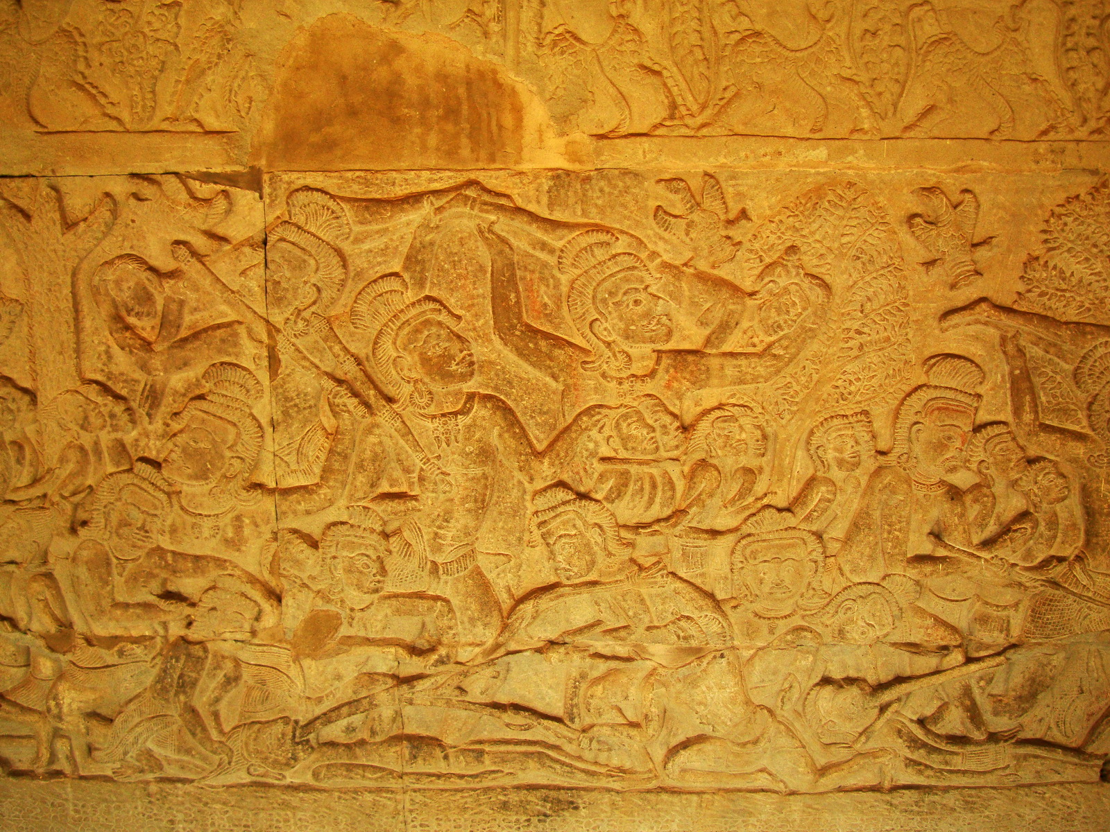 Angkor Wat Bas relief S Gallery E Wing Heavens and Hells 73