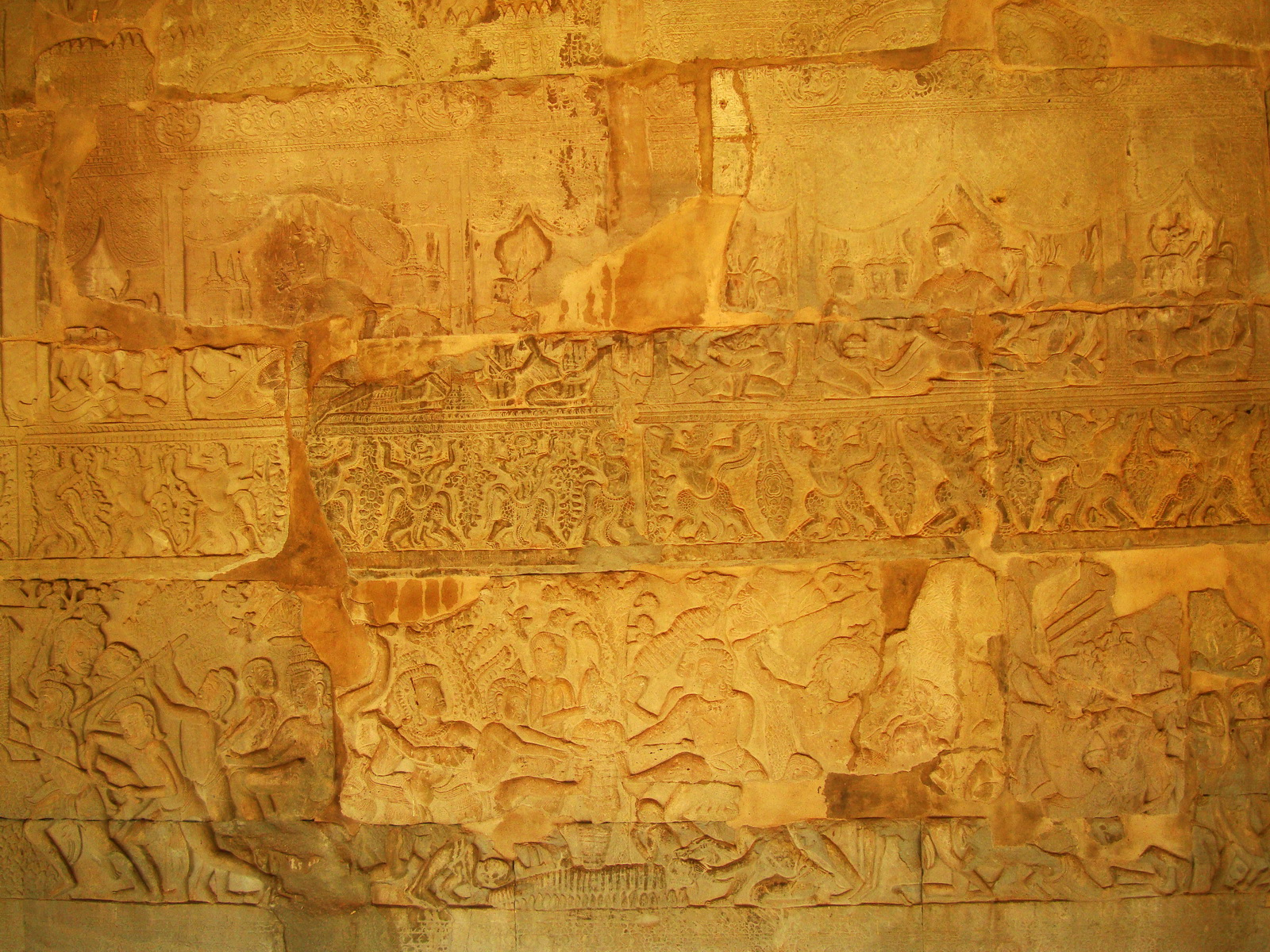 Angkor Wat Bas relief S Gallery E Wing Heavens and Hells 76