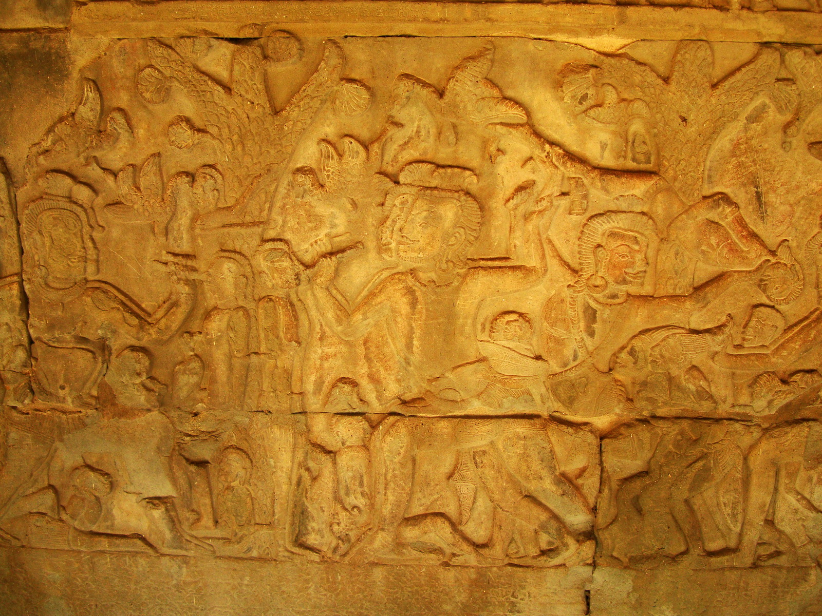 Angkor Wat Bas relief S Gallery E Wing Heavens and Hells 78