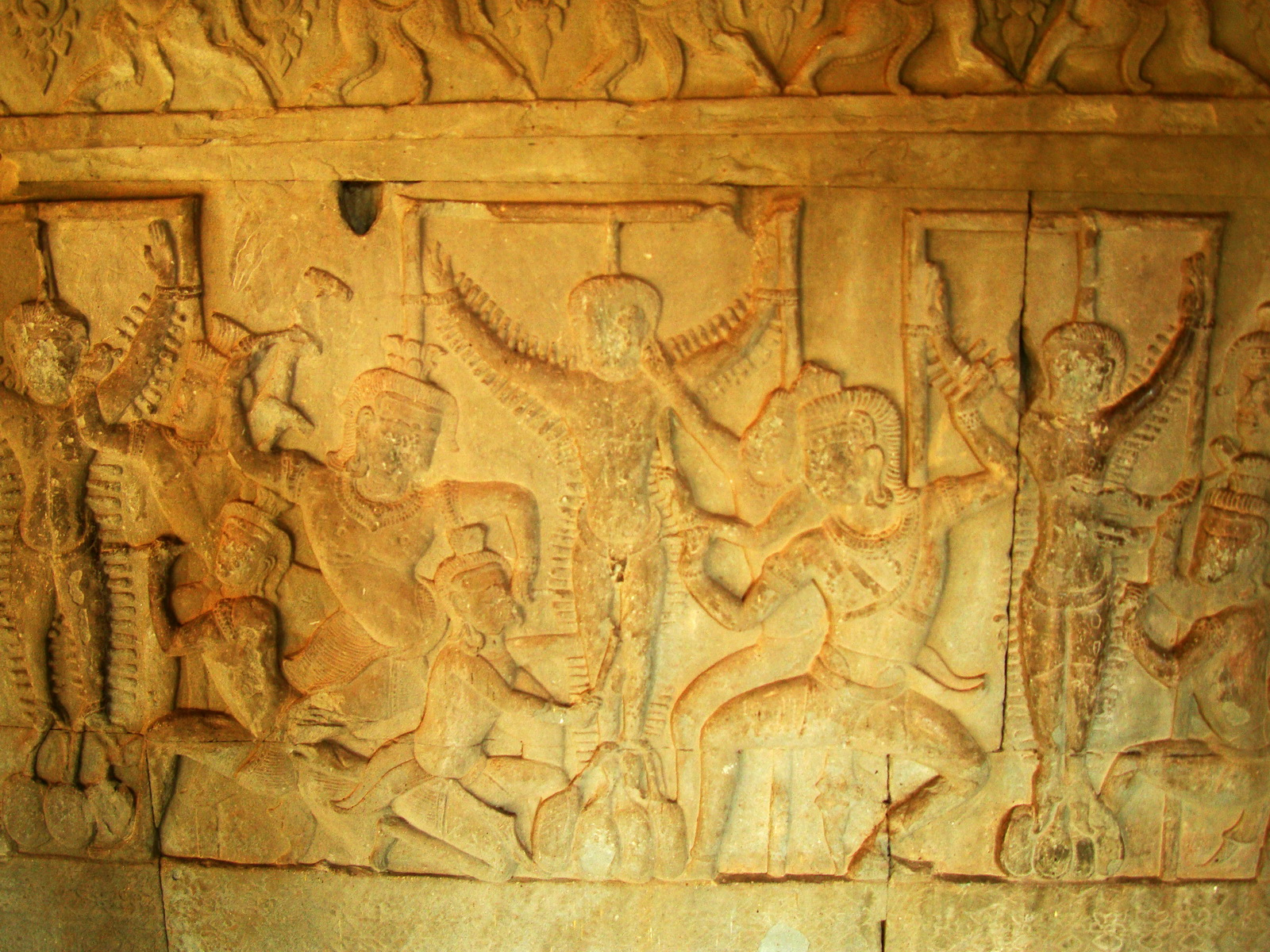 Angkor Wat Bas relief S Gallery E Wing Heavens and Hells 80