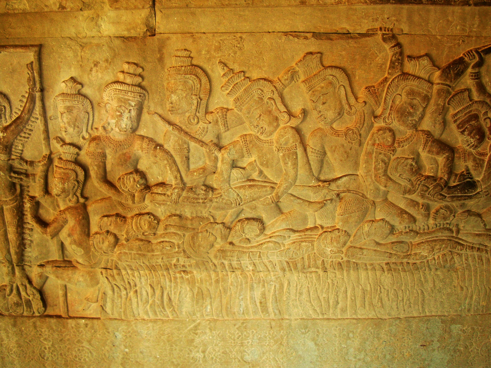 Angkor Wat Bas relief S Gallery E Wing Heavens and Hells 81