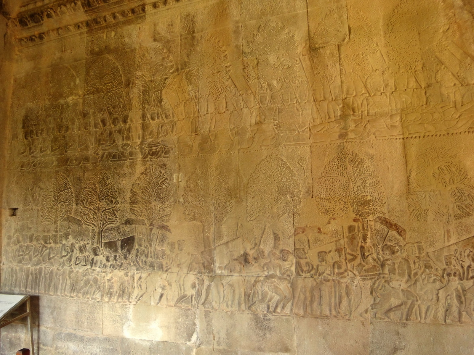 Angkor Wat Bas relief S Gallery W Wing Historic Procession 001
