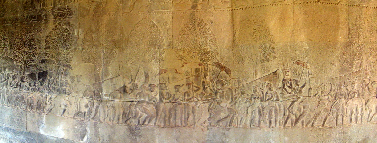 Angkor Wat Bas relief S Gallery W Wing Historic Procession 002