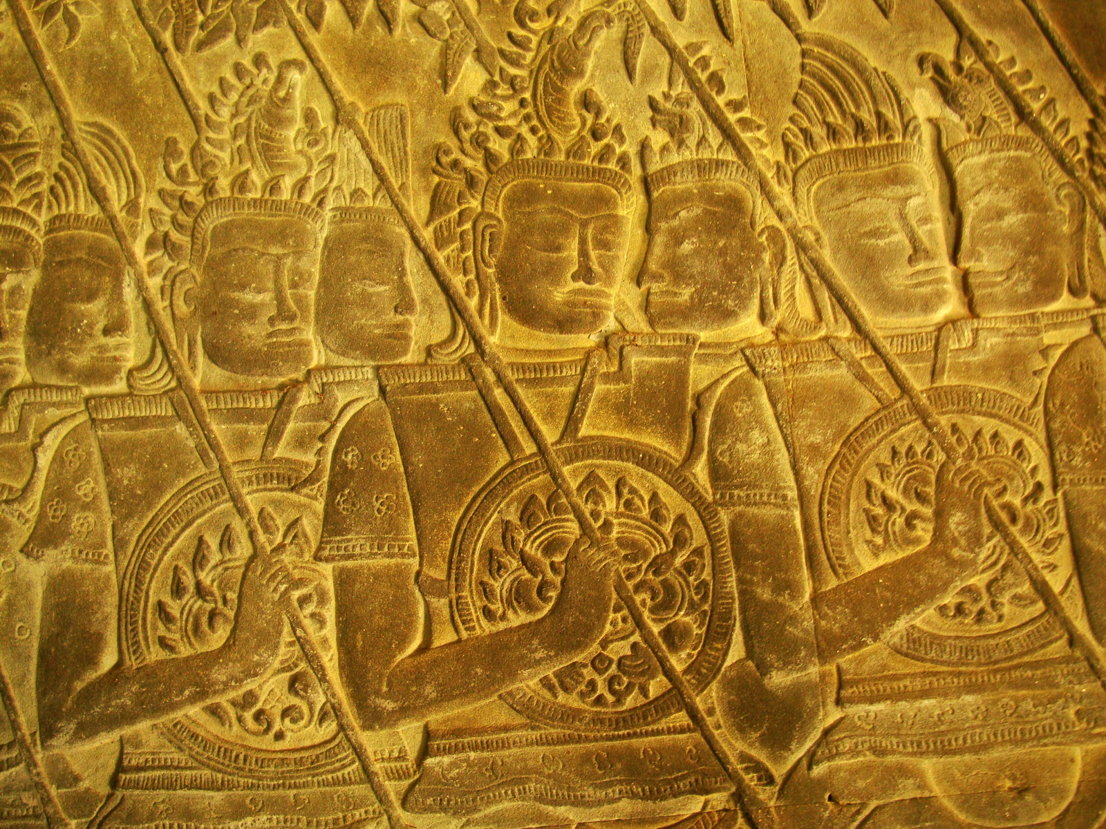 Angkor Wat Bas relief S Gallery W Wing Historic Procession 010