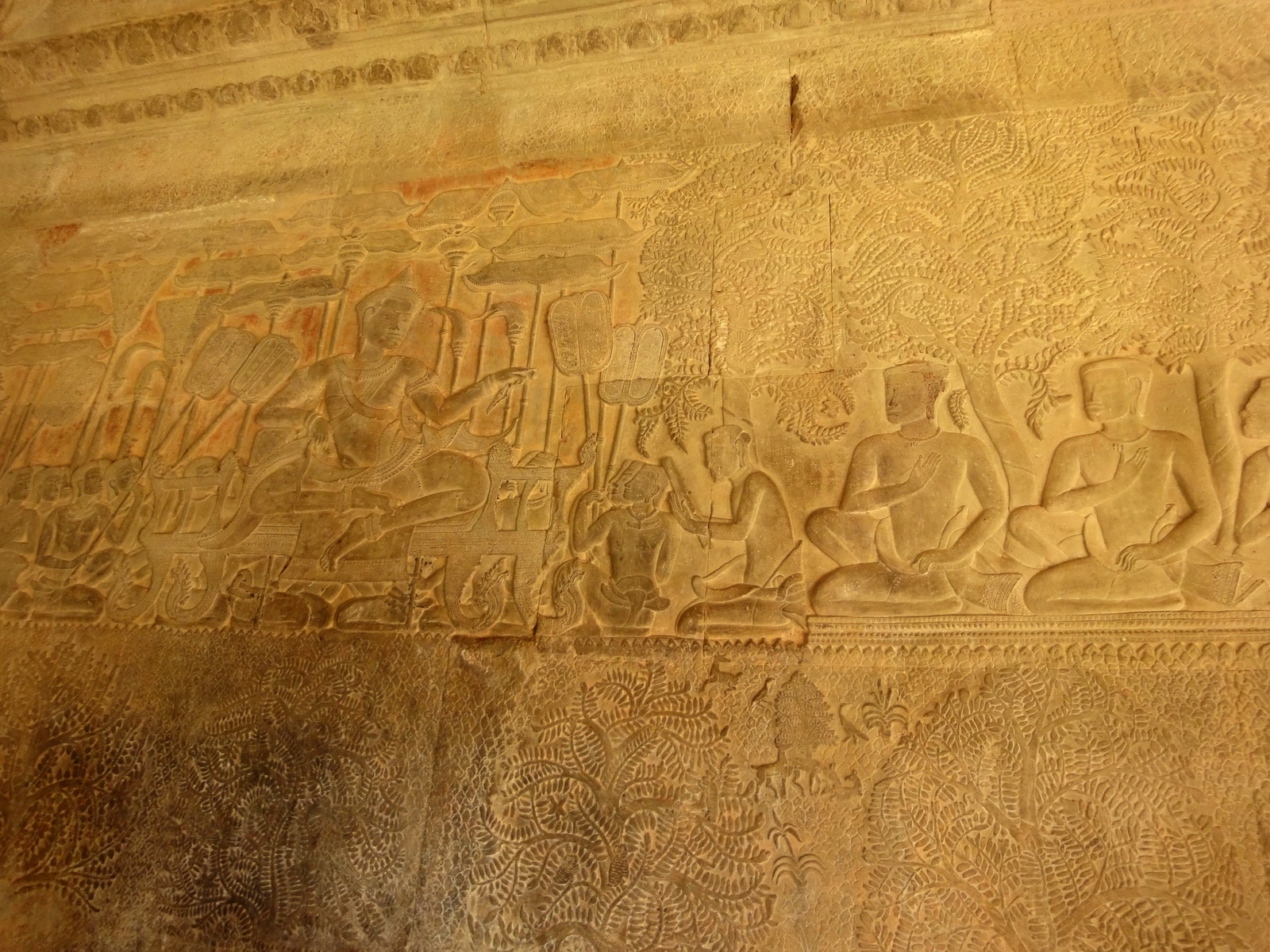 Angkor Wat Bas relief S Gallery W Wing Historic Procession 015