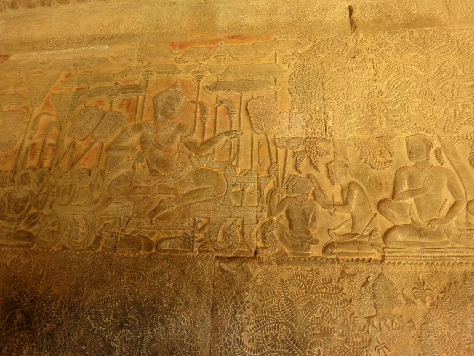 Angkor Wat Bas relief S Gallery W Wing Historic Procession 016