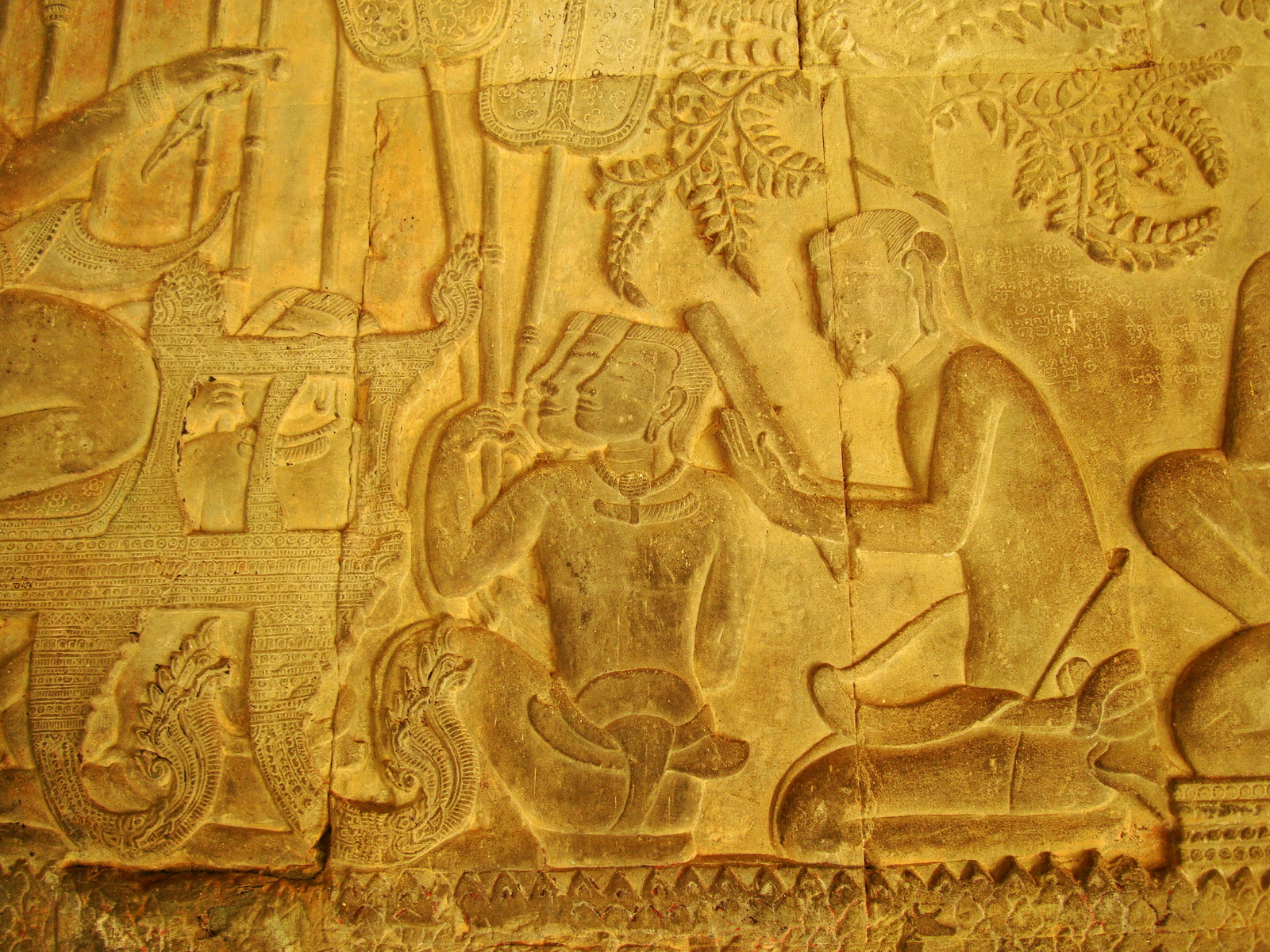 Angkor Wat Bas relief S Gallery W Wing Historic Procession 021